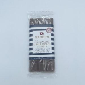 Gardini 32% Cacao e Sale Dolce di Cervia Finissimo al Latte 100gr